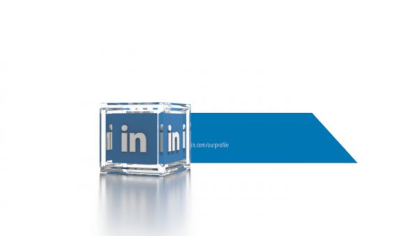 Social Icons Cube Linkedin