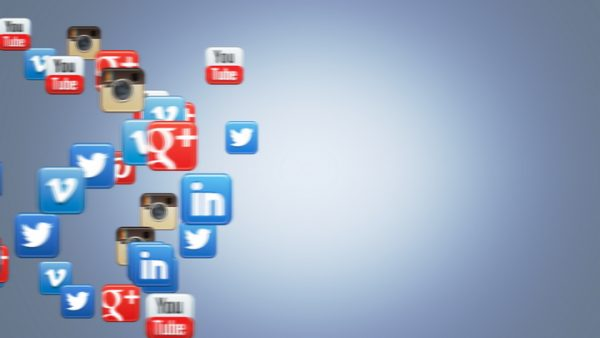 Social Icons Floating Vimeo